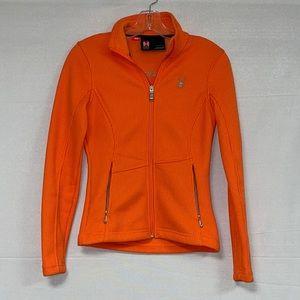 Spyder Core Women's Orange Zip Up Sweater XS